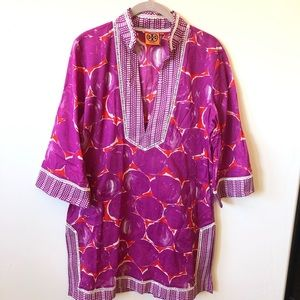 Tory Burch • New Magenta Patterned Tunic Cover Up